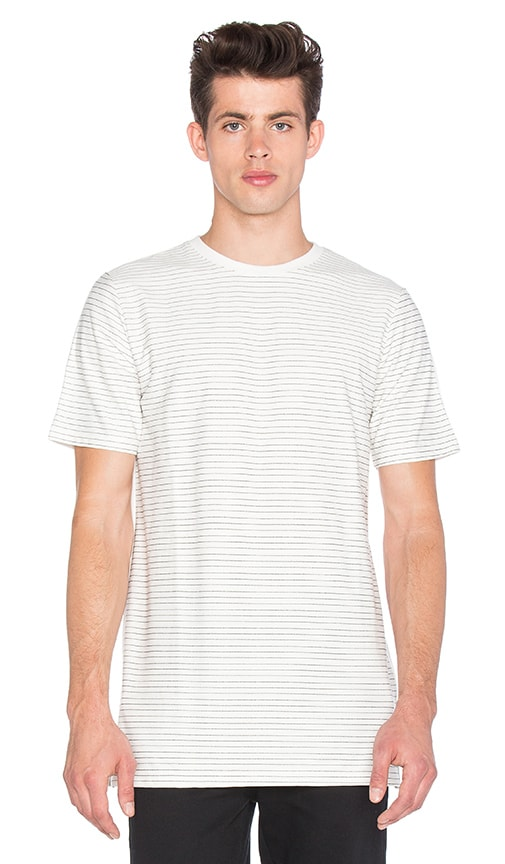 I Love Ugly Fine Stripe T Shirt in White