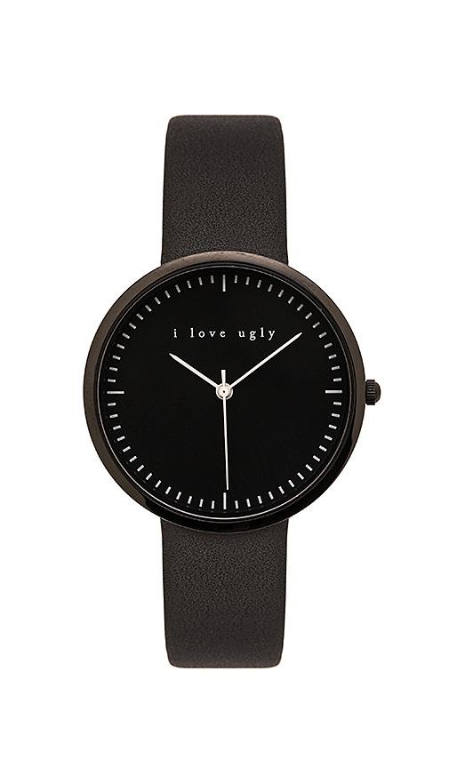 I Love Ugly Black on Black Watch in Black