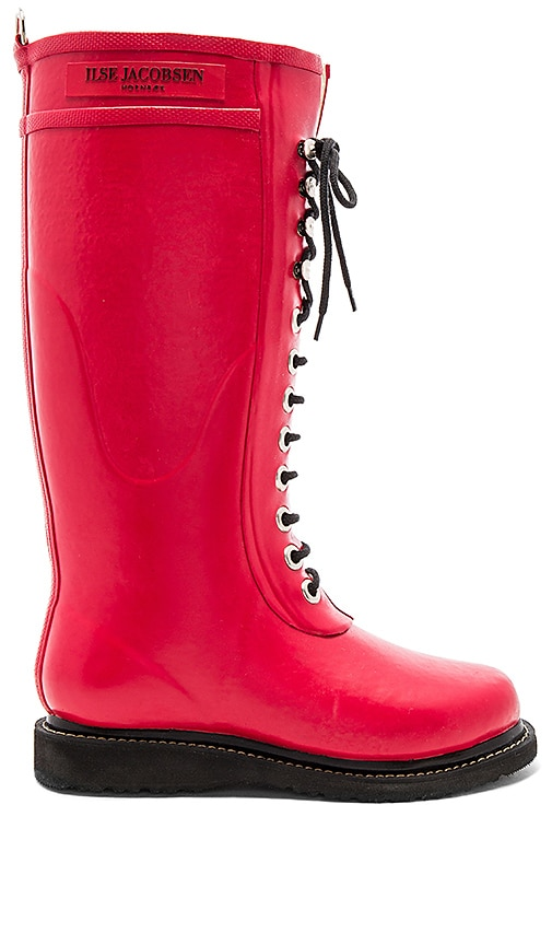 ILSE JACOBSEN Always A Classic Tall Boot in Red