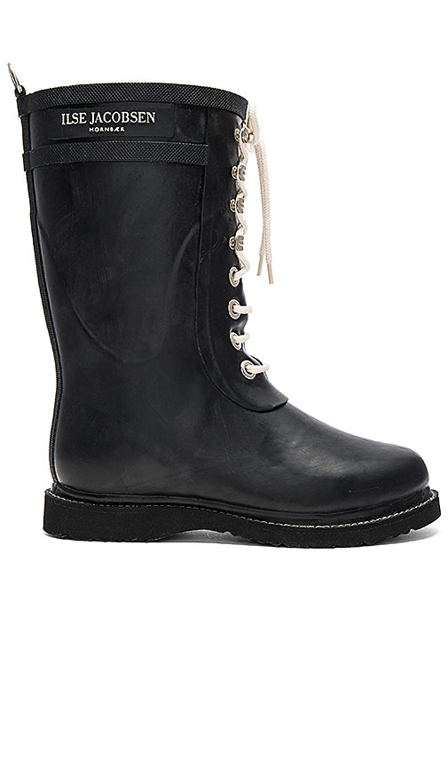 ILSE JACOBSEN Always A Classic Mid Boot in Black
