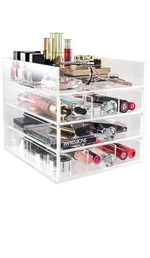 Diamond Collection Open Top 4-Tier Organizer