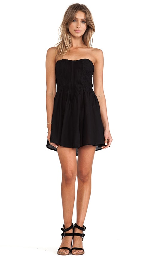 Wren Strapless Pleated Mini Dress
