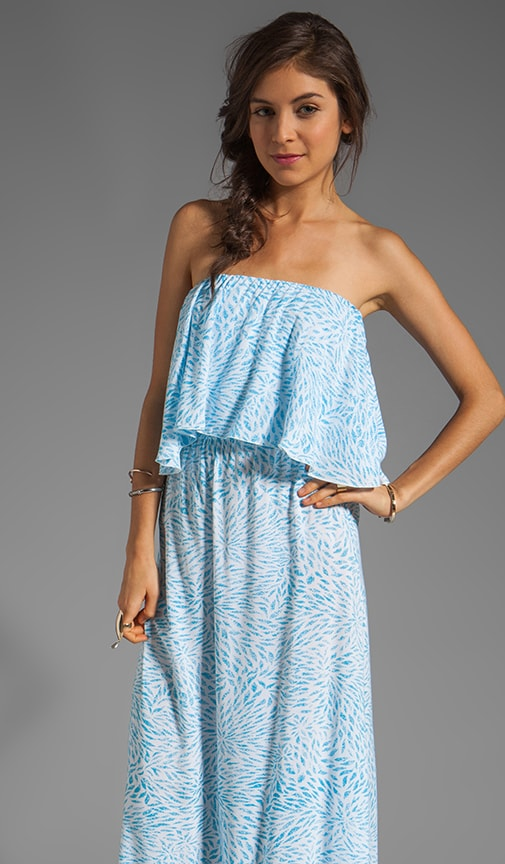 Havi Strapless Tiered Maxi Dress