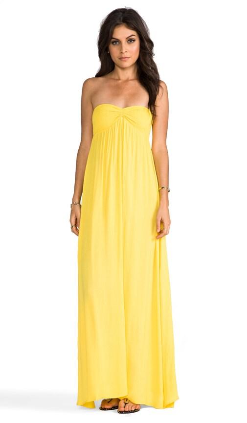 Zanzi Rayon Crepe Pinch Front Smocked Bust Strapless Maxi Dress