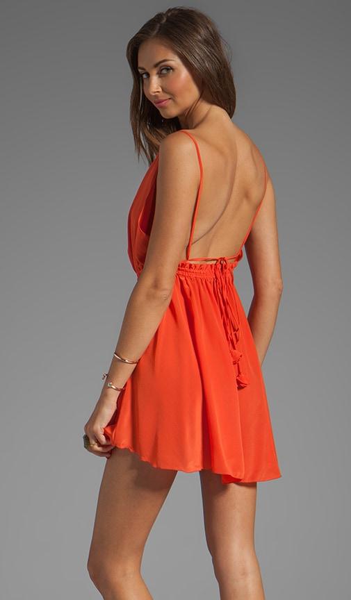 f974024483 Indah Tahani Waves Silk Crepe Cowl Neck Open Back Short Dress in ...