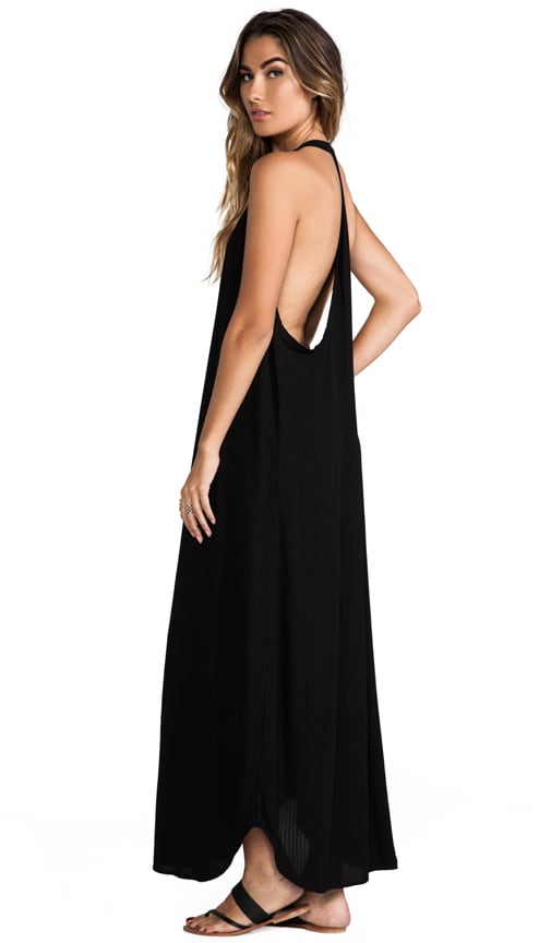 Carmen Deep V-neck T-back Sleeveless Maxi Dress