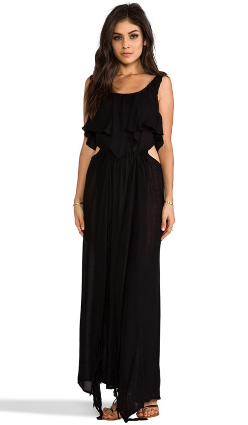 Zanzibar Flounce Cut Out Maxi Dress