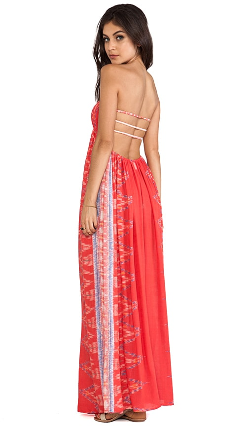 Flamingo Smock Bandeau Maxi Dress