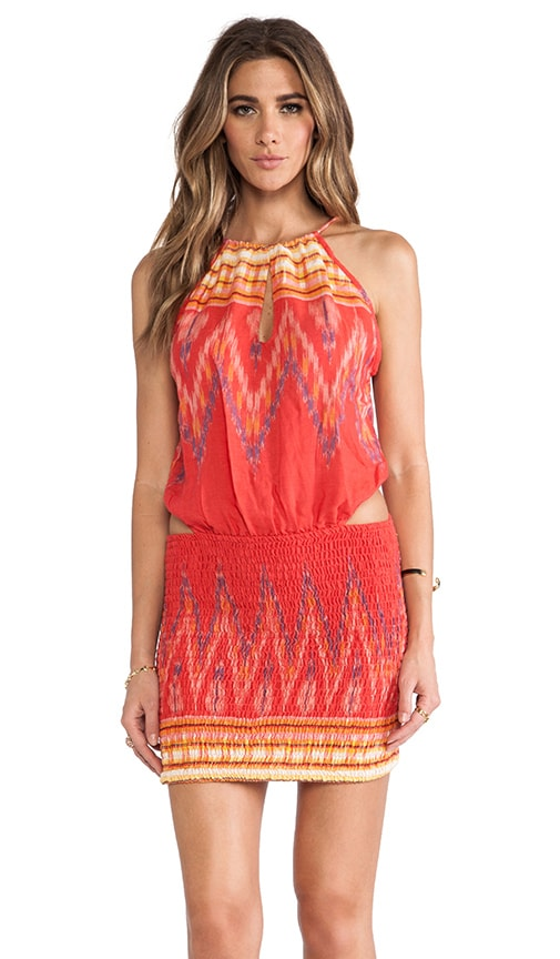 Canoa Cut Away Smock Mini Dress