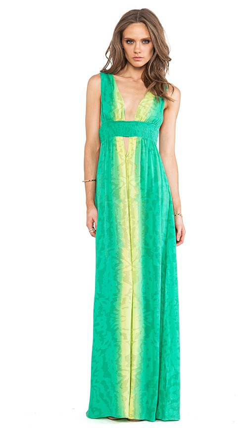 Anjeli Plunge Empire Maxi Dress