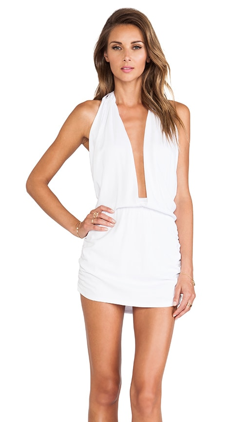 Joey Deep V Halter Dress