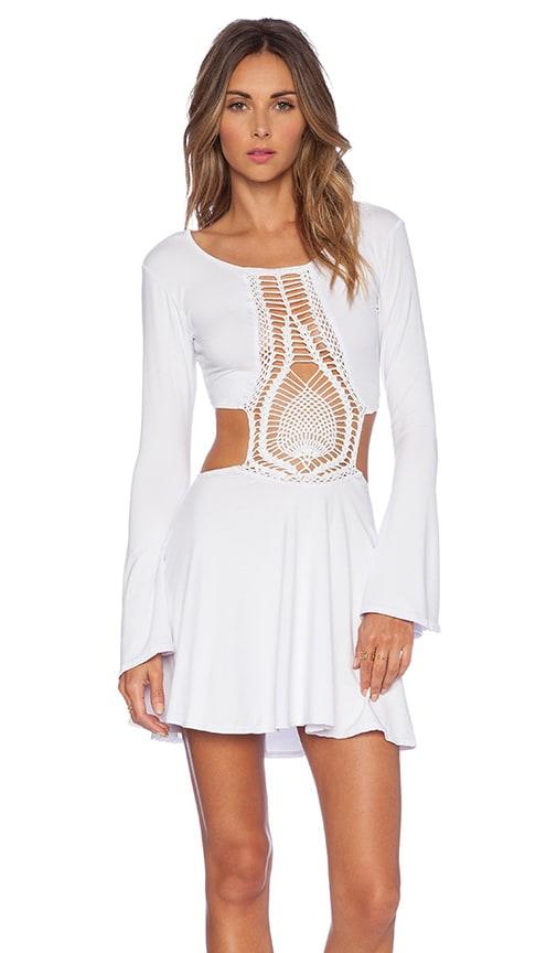Kiss Hand Crochet Bell Sleeve Dress