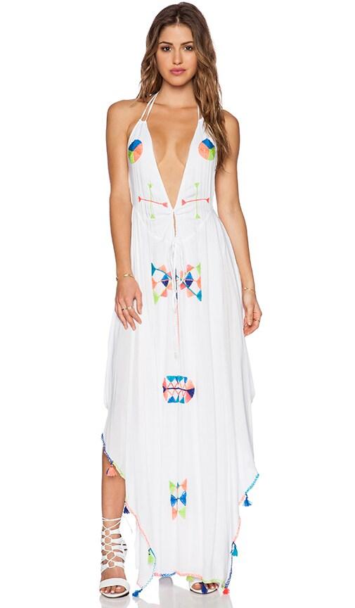Indah Imani Halter Maxi Dress in White