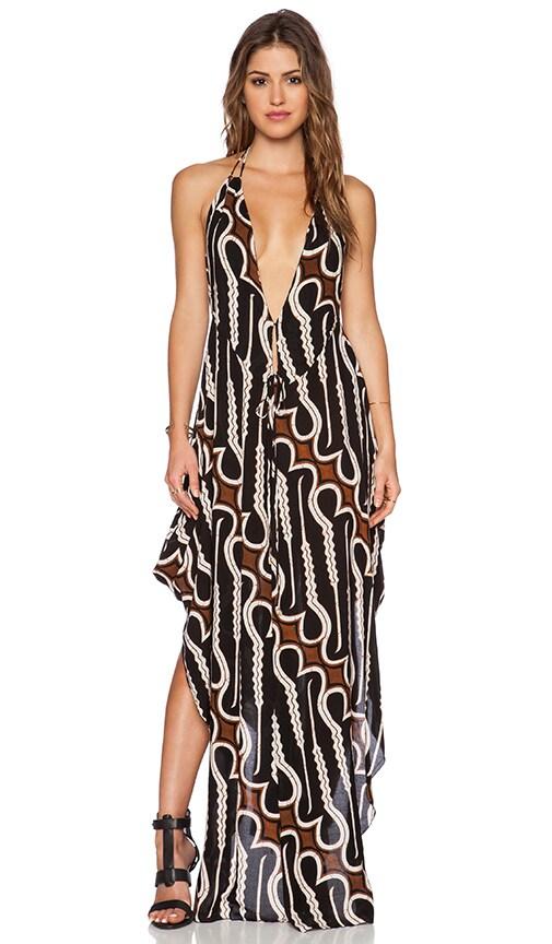 Indah Imani Halter Maxi Dress in Zulu