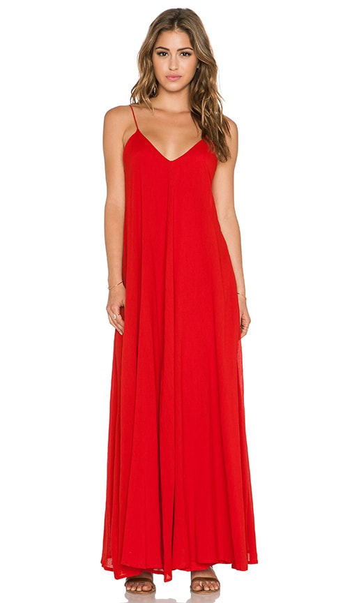 Indah Penda Pocket Maxi Dress in Red