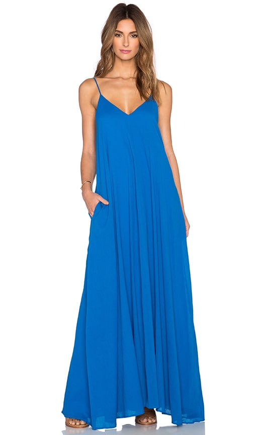 Indah Penda Pocket Maxi Dress in Turquoise