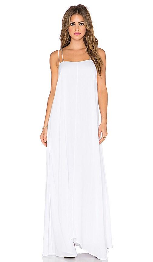 Indah Shale Minimal Maxi Dress in White