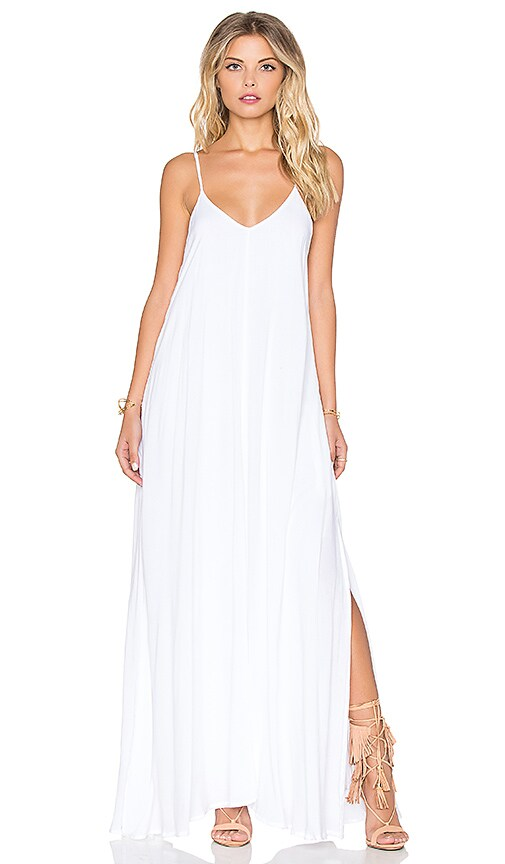 Indah Rain Maxi Dress in White