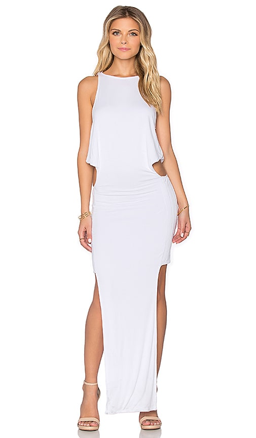 Indah Arrow Maxi Dress in White