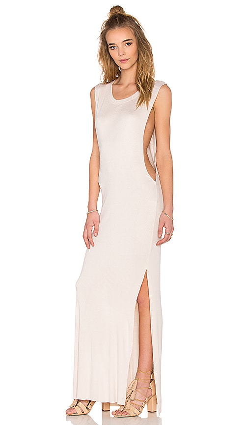 Indah Jimmy Maxi Dress in Beige