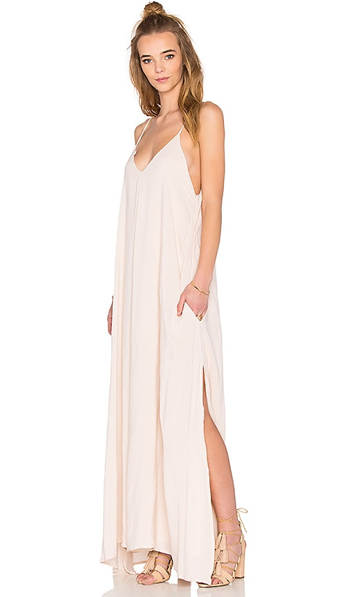 Indah Rain Maxi Dress in Beige