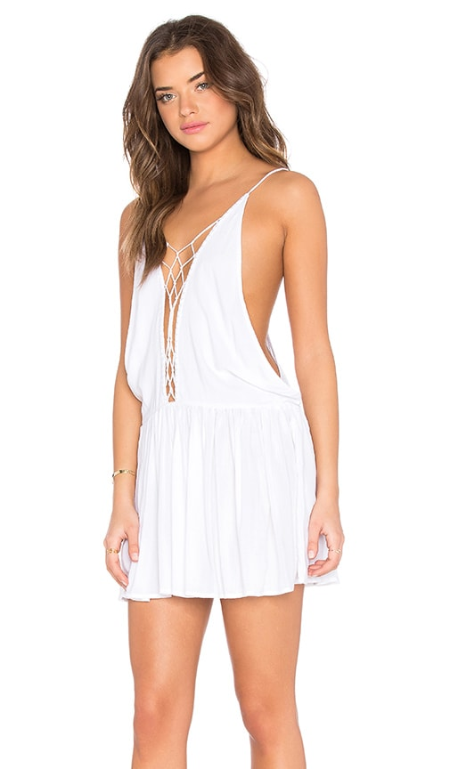 Indah Sachi Mini Dress in White