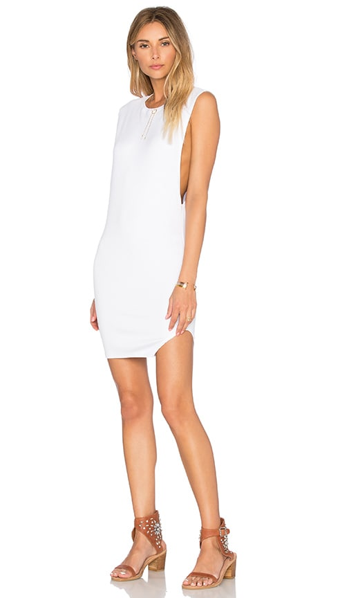 Indah Tallow Tank Dress in White