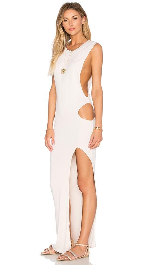 Indah Thea Cutout Maxi Dress in Sand