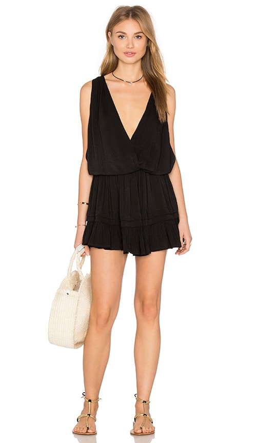 Indah Balmy Open Back Dress in Black