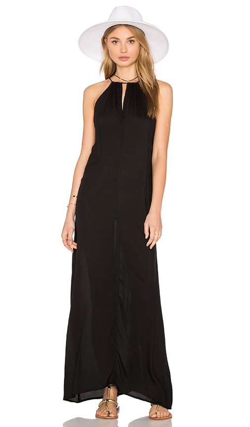 Indah Miro Side Pocket Maxi Dress in Black