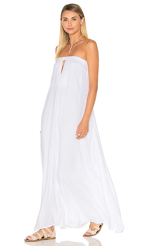 Indah Sail Strapless Maxi Dress in White