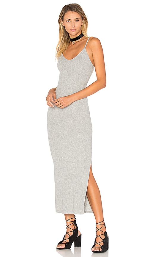 Indah Licorice Tank Dress in Gray