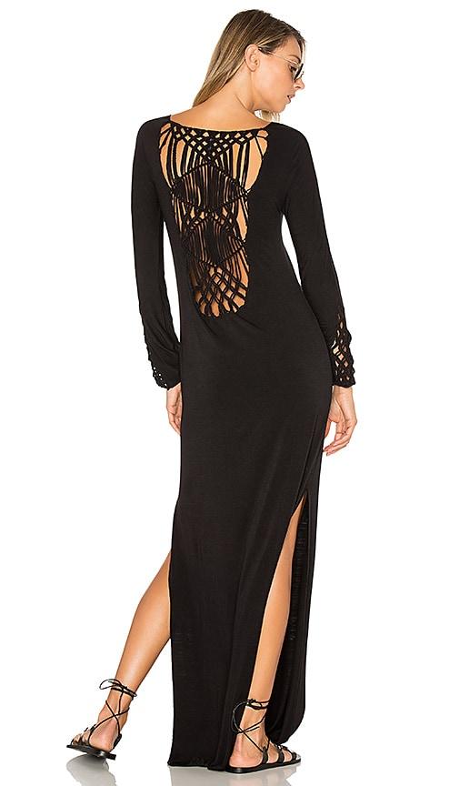 Indah Champagne Dress in Black