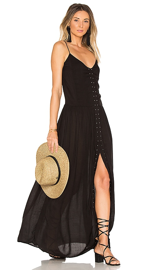 Indah Studded Maxi Dress in Black