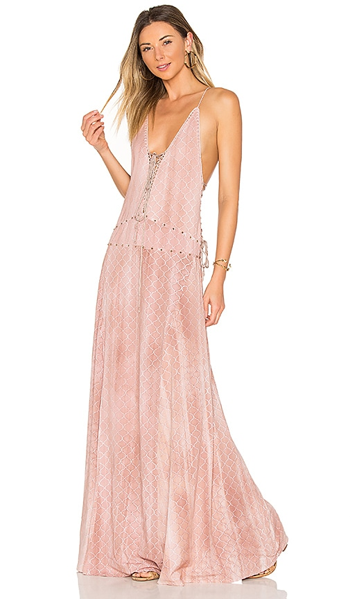 Indah Poet Maxi Dress in Rose