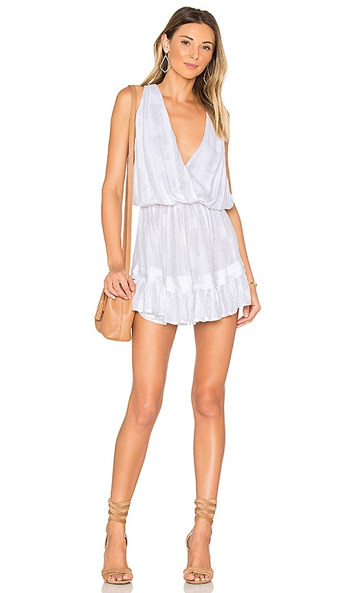 Indah Balmy Mini Dress in Silver Paisley