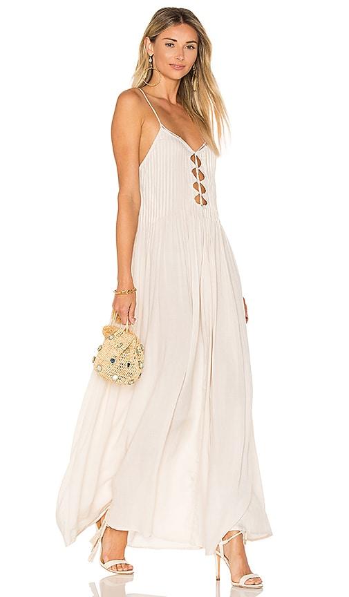 Indah Imagine Maxi Dress in Beige