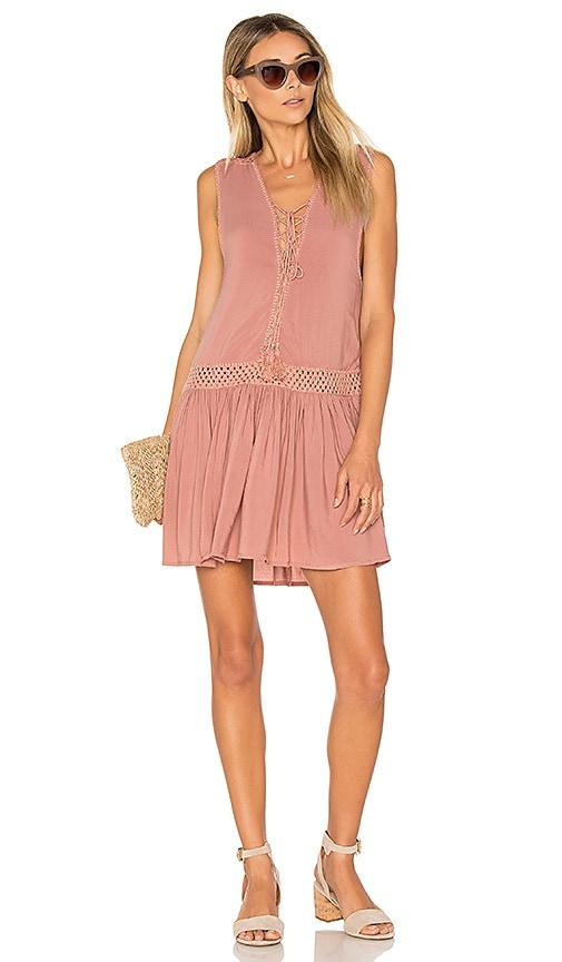 Indah Moonbeam Mini Dress in Pink