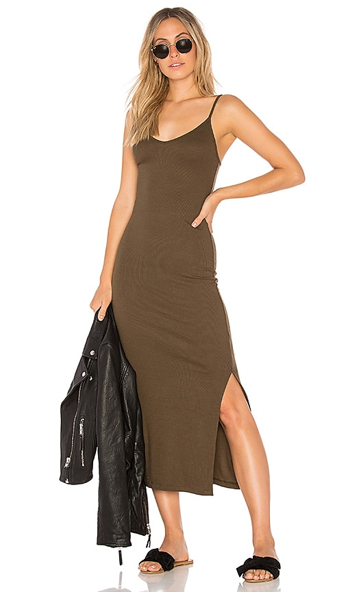Indah Licorice Dress in Army