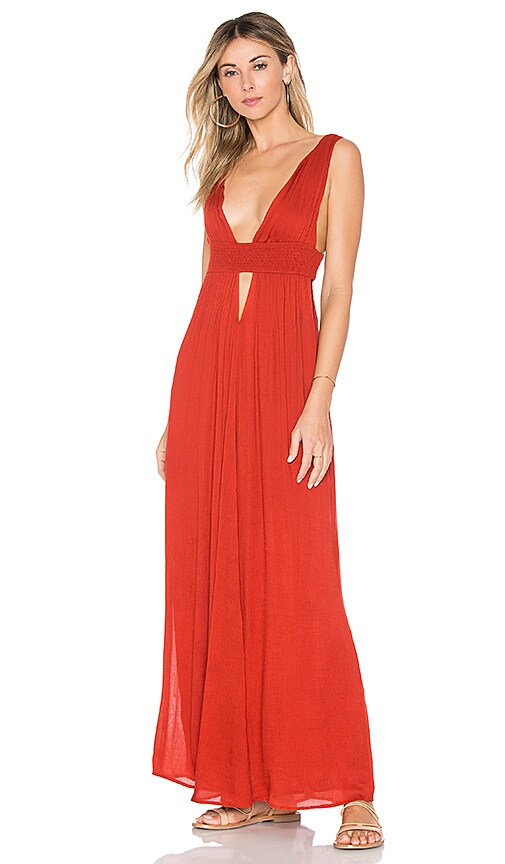 Indah Anjeli Maxi Dress in Red