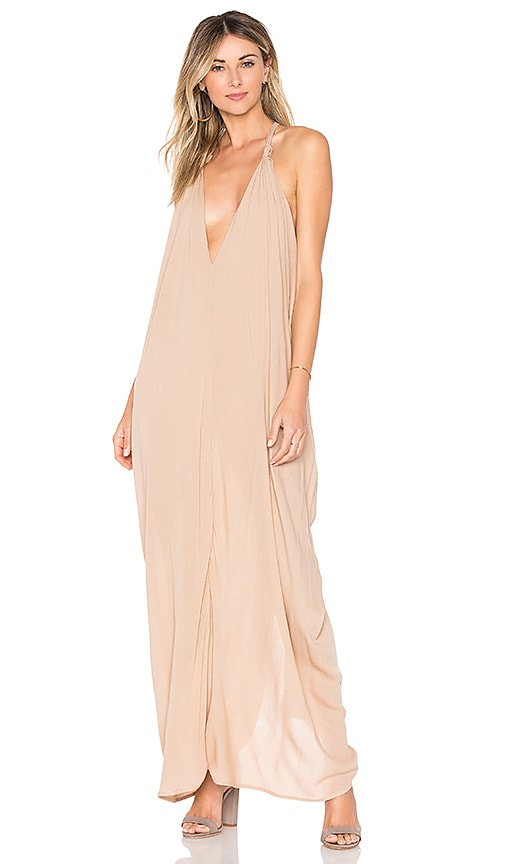 Indah Nammos Maxi Dress in Tan