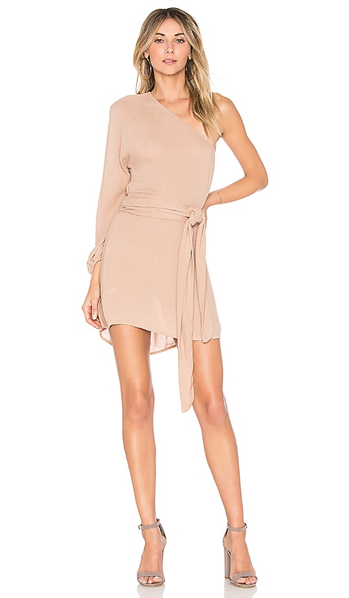 Indah Oba Mini Dress in Tan