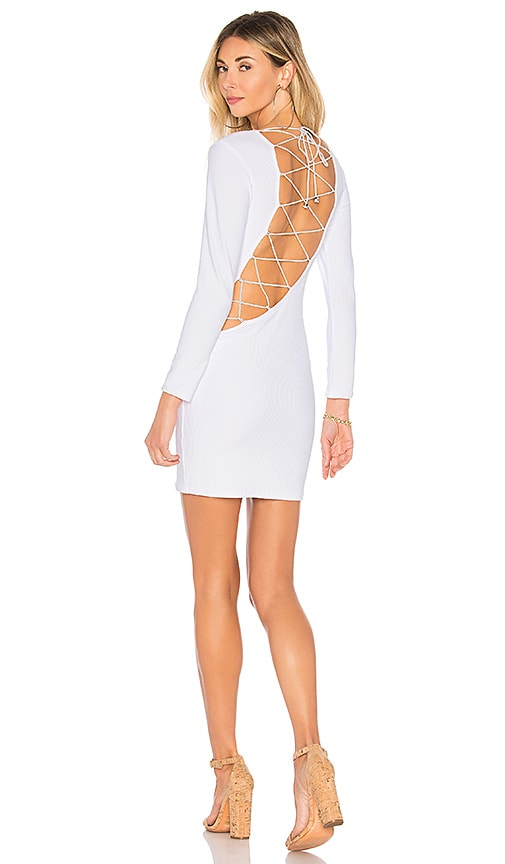 Indah Addiction Open Back Dress in White