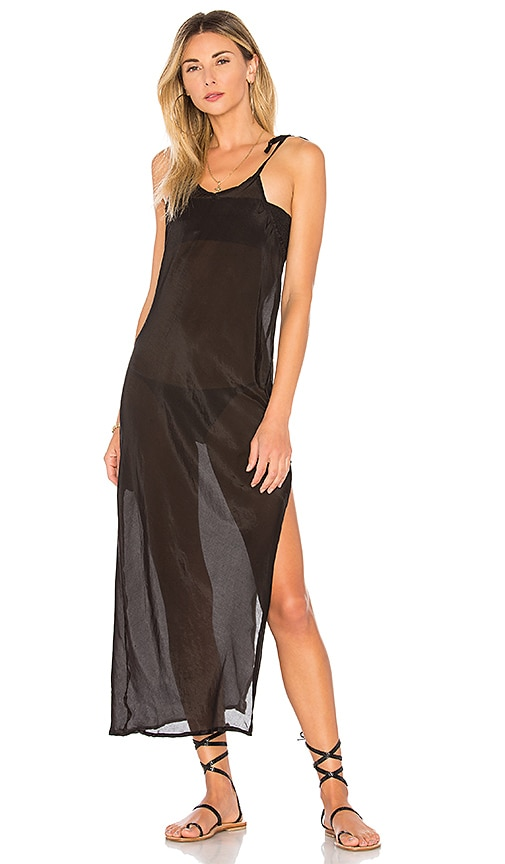 Indah Inka Bias Maxi Dress in Black