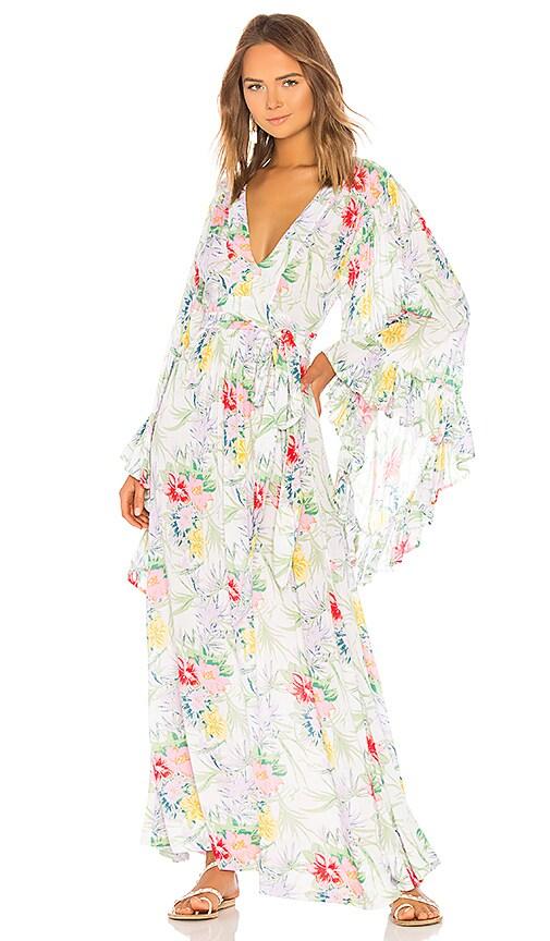 e67a73d49b Indah Angel Maxi Dress in White Tropical