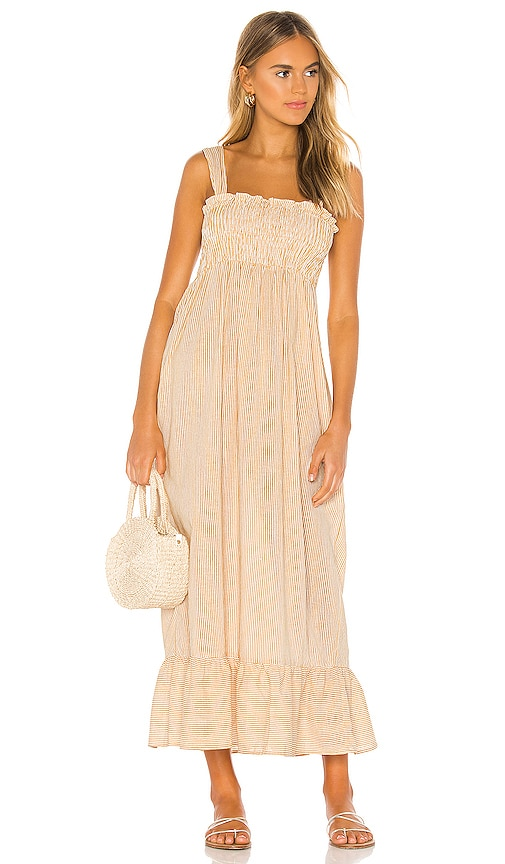 Amici Smocked Maxi Dress