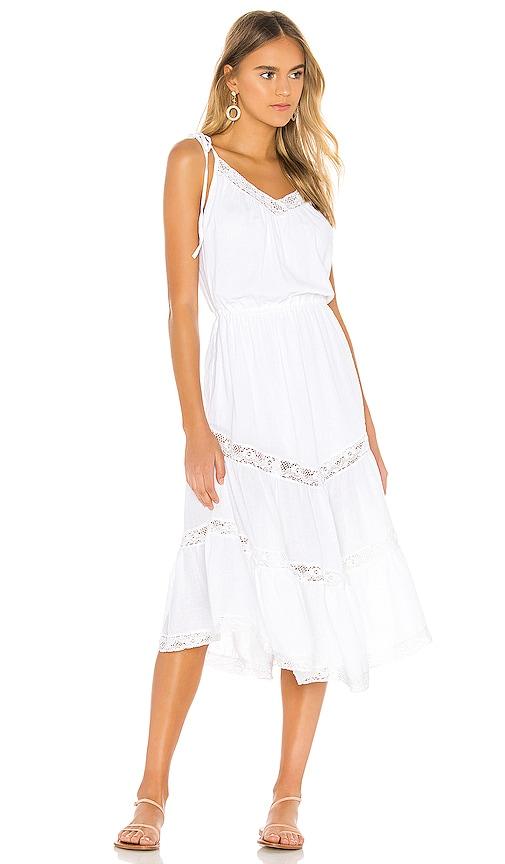 Rachel 70s Peasant Dress