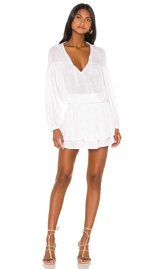 Sashi Solid Blouson Mini Dress