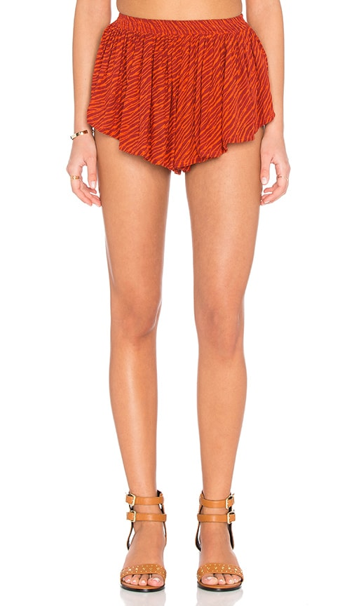 Indah Bee Pleat Short in Orange