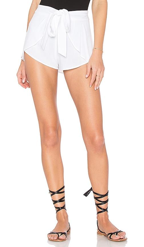 Indah Palm Wrap Short in White